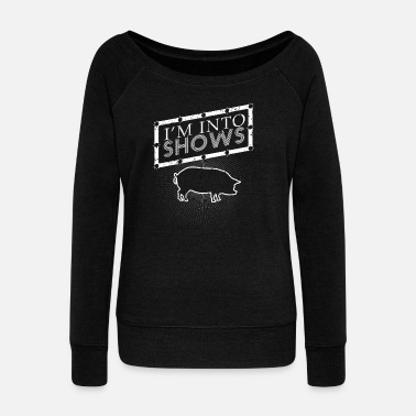 Hog Hog how Hog howing Hog how - Women's Wideneck Sweatshirt