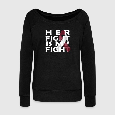 Fck Cancer Shirt head and Neck cancer - Women's Wideneck Sweatshirt