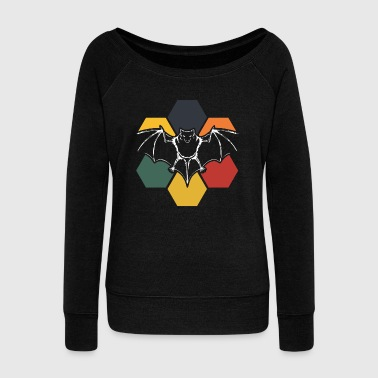 Bat Dark Animal Halloween Gift Vampire - Women's Wideneck Sweatshirt