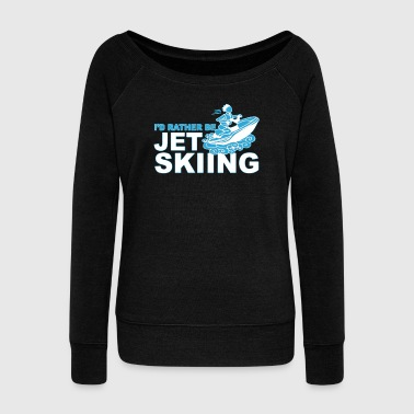 Skiing Shirt - Women's Wideneck Sweatshirt