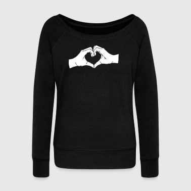 Heart Hands Heart Hands - Women's Wideneck Sweatshirt