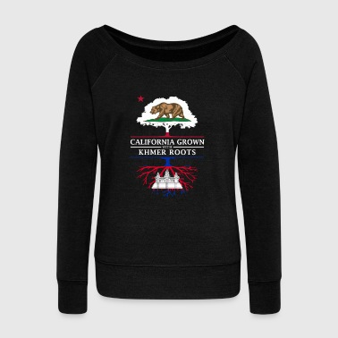 Cambodia California Grown with Khmer Roots - Women's Wideneck Sweatshirt