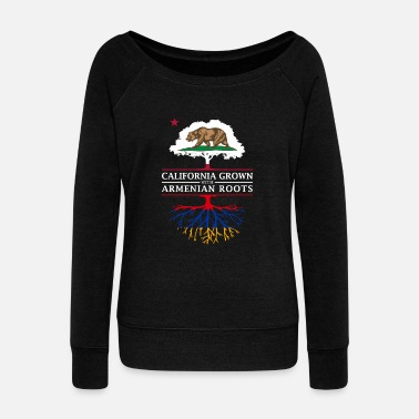 Armenia California Grown with Armenian Roots - Women's Wideneck Sweatshirt