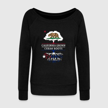 Democrat California Grown with Cuban Roots - Women's Wideneck Sweatshirt