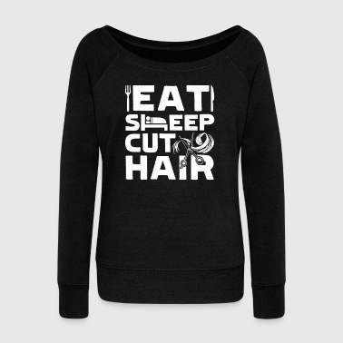 FUNNY HAIR STYLIST SHIRT - Women's Wideneck Sweatshirt