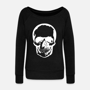 Skull dark - Women's Wideneck Sweatshirt