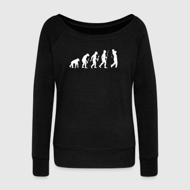 Evolution of a Golfer - Women's Wideneck Sweatshirt