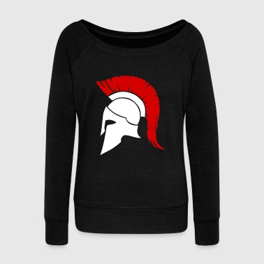 Spartan white/red - Women's Wideneck Sweatshirt