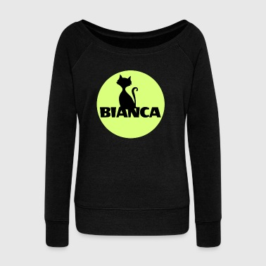 First Name Bianca name first name - Women's Wideneck Sweatshirt