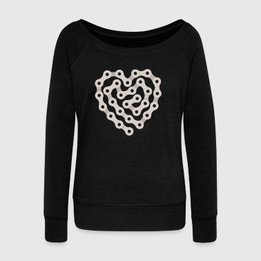 Love Biking - Women's Wideneck Sweatshirt