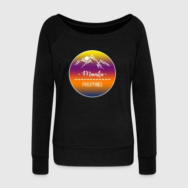 Manila Philippines - Women's Wideneck Sweatshirt