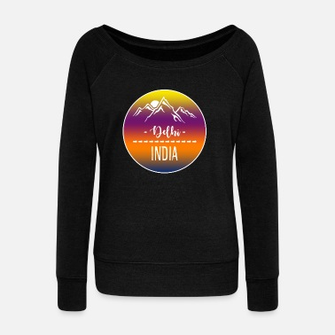 India Delhi India - Women's Wideneck Sweatshirt