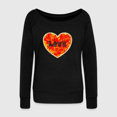 Big Lava Love Heart - Women's Wideneck Sweatshirt