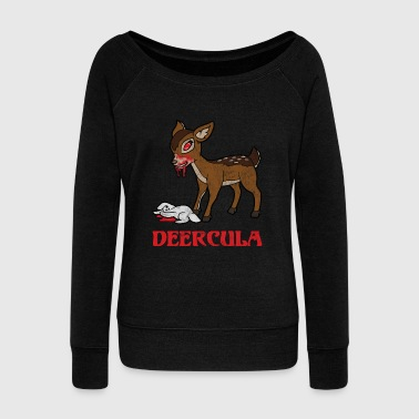 Retro Vintage Halloween Horror Deer Rabbit Bunny - Women's Wideneck Sweatshirt
