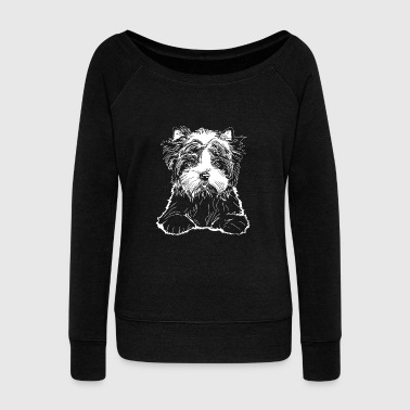 Valentino Biewer Terrier Puppy - Women's Wideneck Sweatshirt
