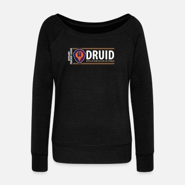 Druid Shield Series: Druid - Women's Wideneck Sweatshirt