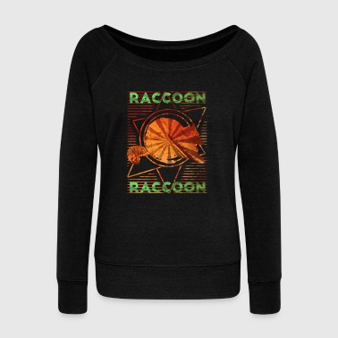 Beaver Raccoon - Women's Wideneck Sweatshirt