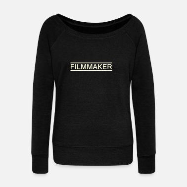 filmmaker white - Women's Wideneck Sweatshirt