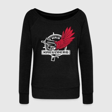 Kreuzberg Kreuzberg Uzi Wings Hood Chiller Berlin - Women's Wideneck Sweatshirt