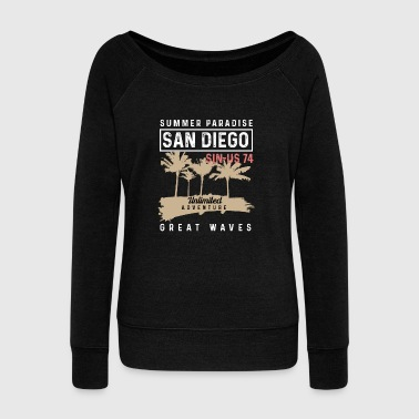 Summer Paradise in san diego california - Women's Wideneck Sweatshirt