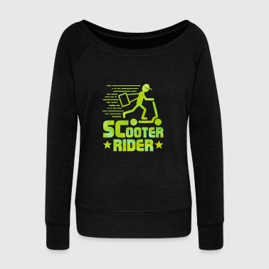 Scooter Scooter Rider - Scooter - Total Basics - Women's Wideneck Sweatshirt