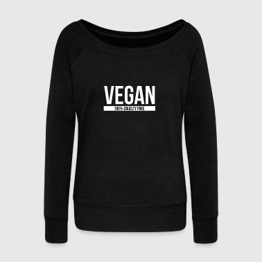 Vegan 100% Cruelty Free - Vegan - Total Basics - Women's Wideneck Sweatshirt