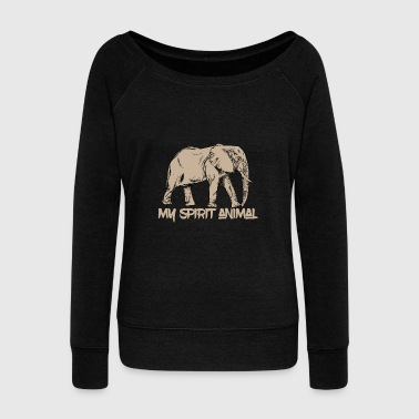 Animal Print - Elephant : My Spirit Animal - Women's Wideneck Sweatshirt