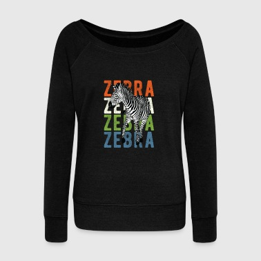 Animal Print - Zebra - Women's Wideneck Sweatshirt