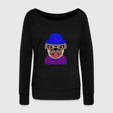 Funny cool Pug - Women's Wideneck Sweatshirt