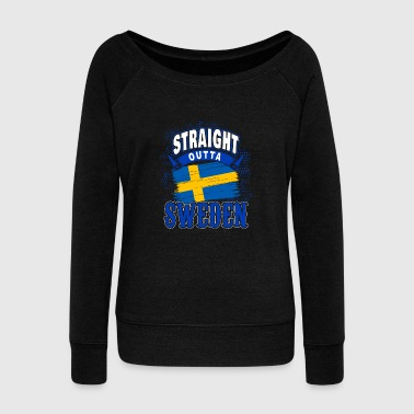 Sweden flag gift idea - Women's Wideneck Sweatshirt
