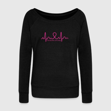 Breast Cancer Awareness Shirt - Women's Wideneck Sweatshirt