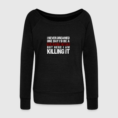 Volunteer Firefighter Hero Thin Red Line - Women's Wideneck Sweatshirt