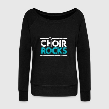 Choir Rocks singing lover christmas gift kids - Women's Wideneck Sweatshirt