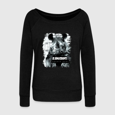 Animal Print - El Rinoceronte - Women's Wideneck Sweatshirt