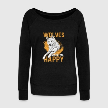Wolf Hunt Animal Gift - Women's Wideneck Sweatshirt