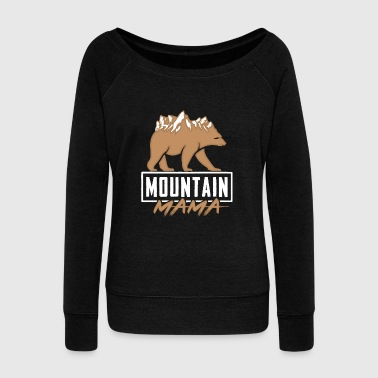 Mountain Climbing Bear - Women's Wideneck Sweatshirt