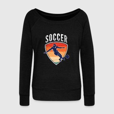 Kicker Soccer - Women's Wideneck Sweatshirt