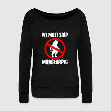 Bigfoot ManBearPig - Women's Wideneck Sweatshirt