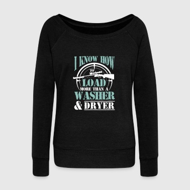 Colt I know how to load a Rifle - Women's Wideneck Sweatshirt