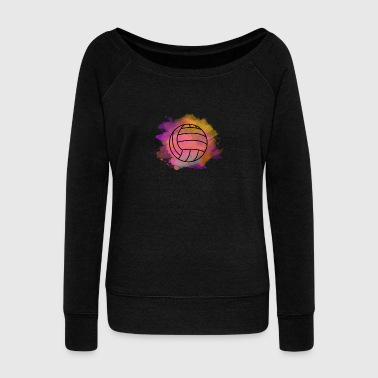 Rugged volleyball rugged colors cool nice team gift idea - Women's Wideneck Sweatshirt