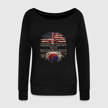 Korea American grown with South Korean Roots - Women's Wideneck Sweatshirt