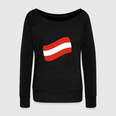 Winter Vacation Austria gift vacation flag map - Women's Wideneck Sweatshirt
