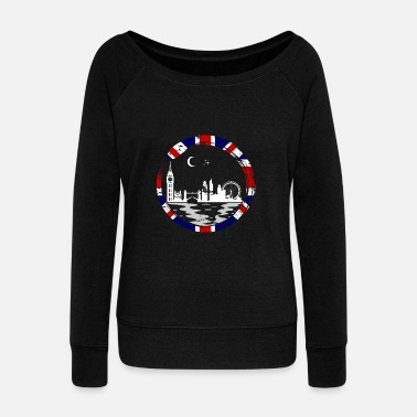 Manchester London Lover Gift Christmas Birthday England - Women's Wideneck Sweatshirt