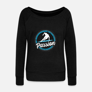 Ice Cream Passion Ice Skating Gift Christmas Kids - Women's Wideneck Sweatshirt