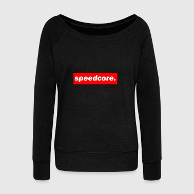 Techno Bass techno mischpult red bass bpm - Women's Wideneck Sweatshirt