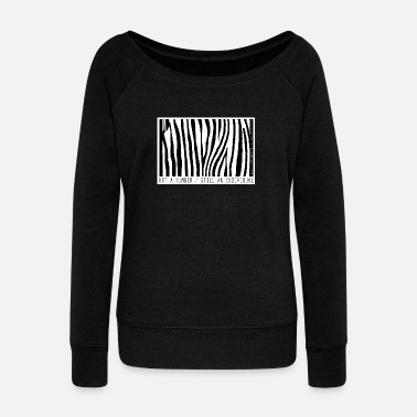 Record Label Not a number - still an individual - Women's Wideneck Sweatshirt