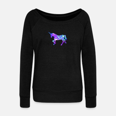 Flashy Flashy Unicorn - gift design - Women's Wideneck Sweatshirt