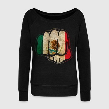 Mexico Fist - Women's Wideneck Sweatshirt