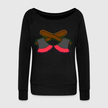 Ax Tool Craft - Women's Wideneck Sweatshirt