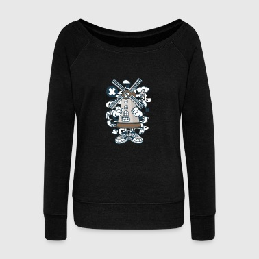 Weird Windmill - Women's Wideneck Sweatshirt